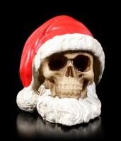 Totenkopf - Weihnachtsmann mit Bart - klein