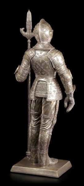 Große Ritter Figur mit Lanze