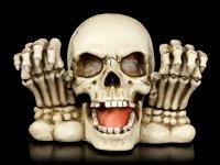 Totenkopf - Spardose mit Händen