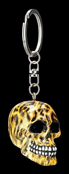 Schlüsselanhänger Totenkopf - Leopard Wild