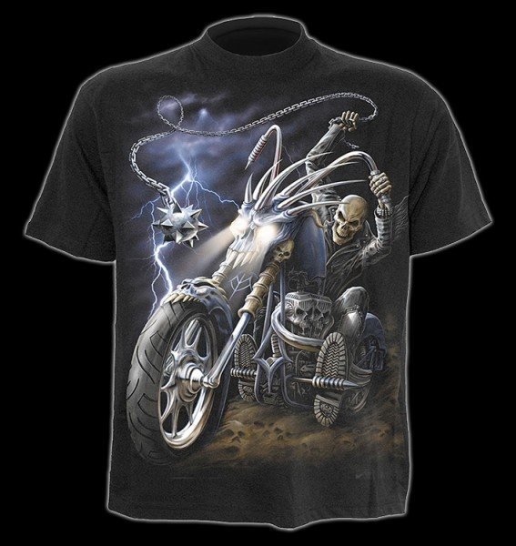 T-Shirt - Skelett Biker - Ride to Hell