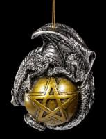 Christmas Tree Ball with Pentagram and Dragon