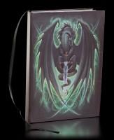 Hardcover Notizbuch - Drache Skull Blade