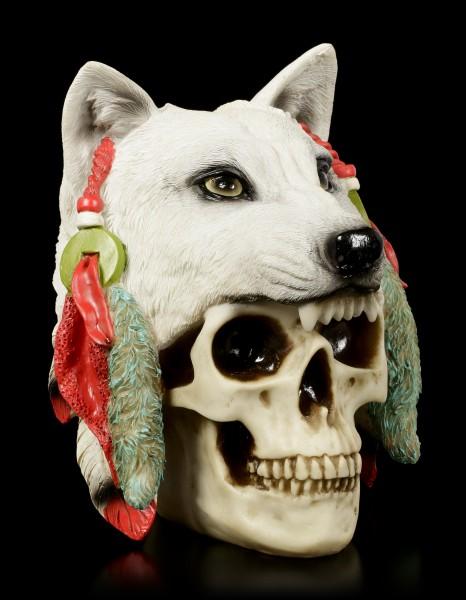 Totenkopf mit Wolfspelz - Spirit Hunter - groß