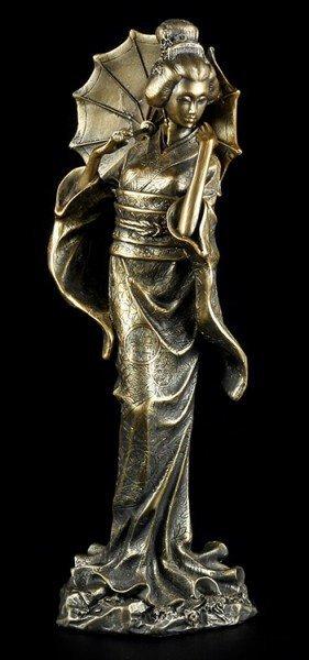 Geisha Figur - Koyuki mit Schirm