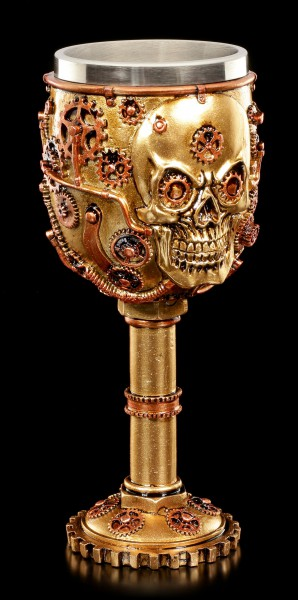 Steampunk Goblet - Mechanic Skull