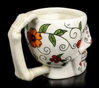 Totenkopf Tasse - Day of the Dead - Red Heart