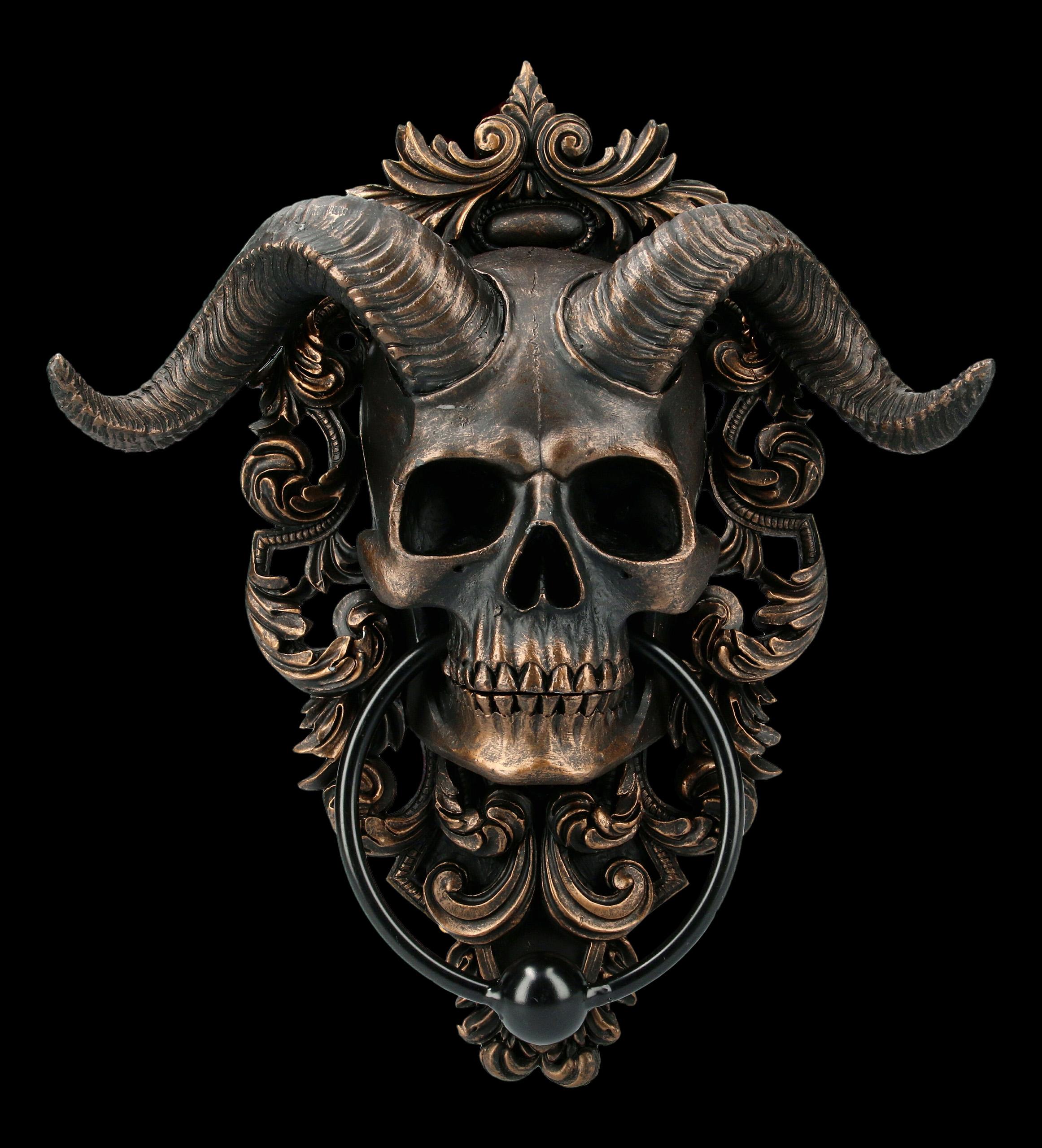 Door Knocker Diabolus Skull Www Figuren Shop De