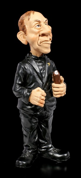 Funny Job Figurine - Priest in black Robe