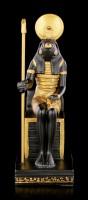 Horus Figurine on Throne with Scepter