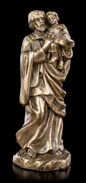 Small St. Joseph Figurine - bronzed