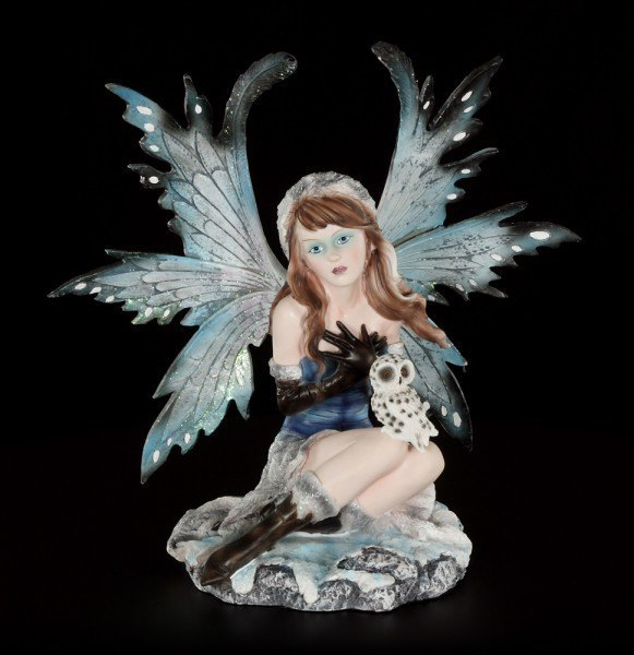 Fairy Figurine - Arien with Snow Owl