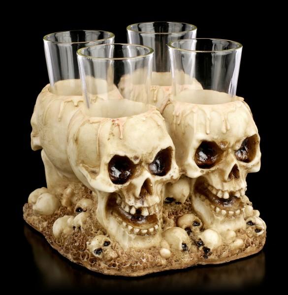 Shot Glasses Skull Set - Shot Dead