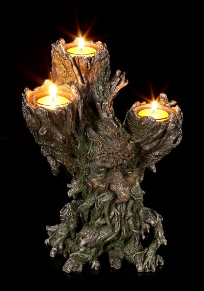 Tri Tealight Holder Greenman