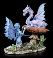 Elfen Figur mit Drache - Companion Dragon