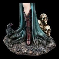 Dark Angel Figur - Vampirin Samira mit Totenkopf