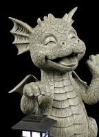 Garden Figurine with Solar Light - Dragon Big Boy