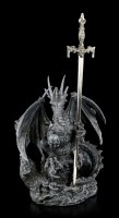 Drachen Brieföffner - Precious Sword - schwarz