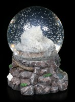 Snowglobe with Wolf - Guardian of the North
