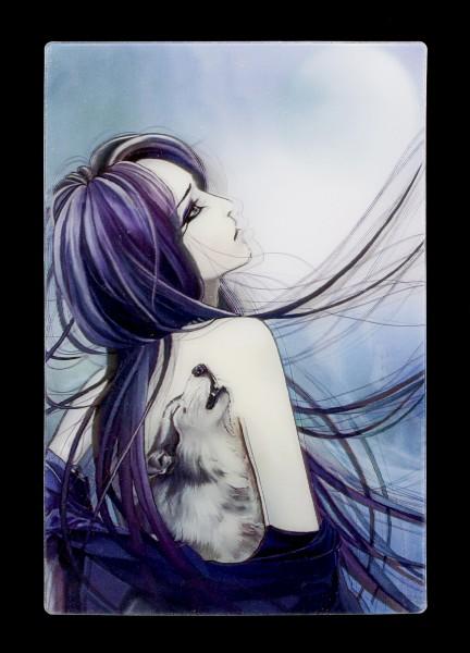 3D Postcard - Wolf Girl