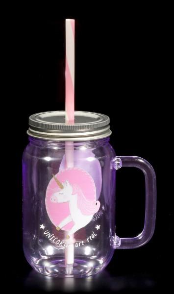 Einhorn Trinkbecher rosa