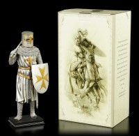 Crusader Figurine with Axe and Shield