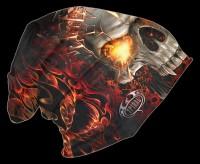 Skull Blast - Spiral Gothic Beanie