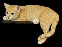 Shelf Sitter - Lying Tabby Cat Figurine