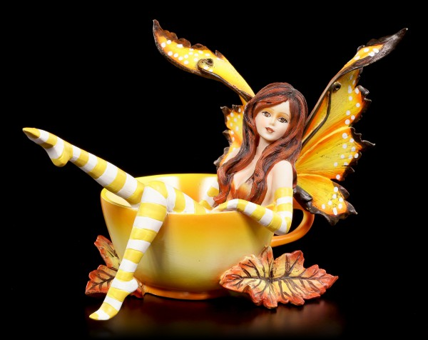 Cup Fairy Autumn Figurine