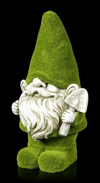 Moosbedeckte Gartenzwerg Figur