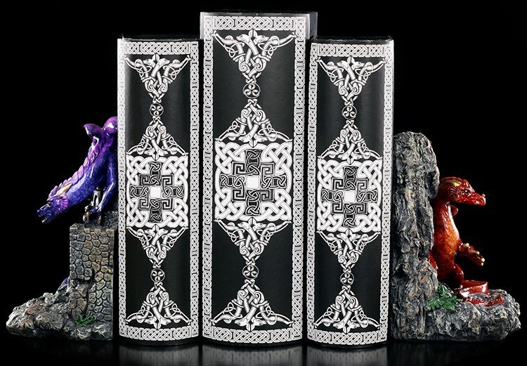 Dragon Bookends - glazed