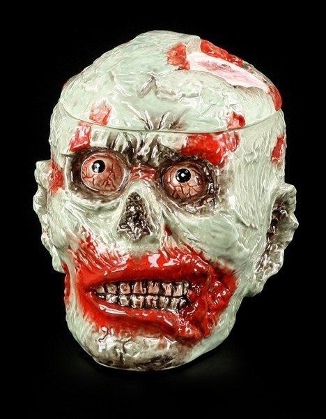 Große Zombie Keksdose aus Keramik