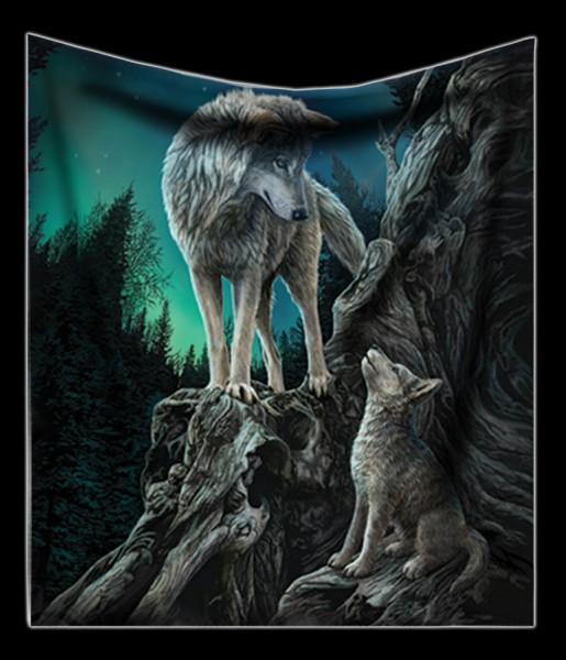 Kuscheldecke mit Wölfen - Guidance
