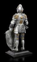 Ritter Figur mit Schwert und Lilienschild