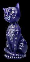 Ouija Cat Figurine - Mystic Kitty purple