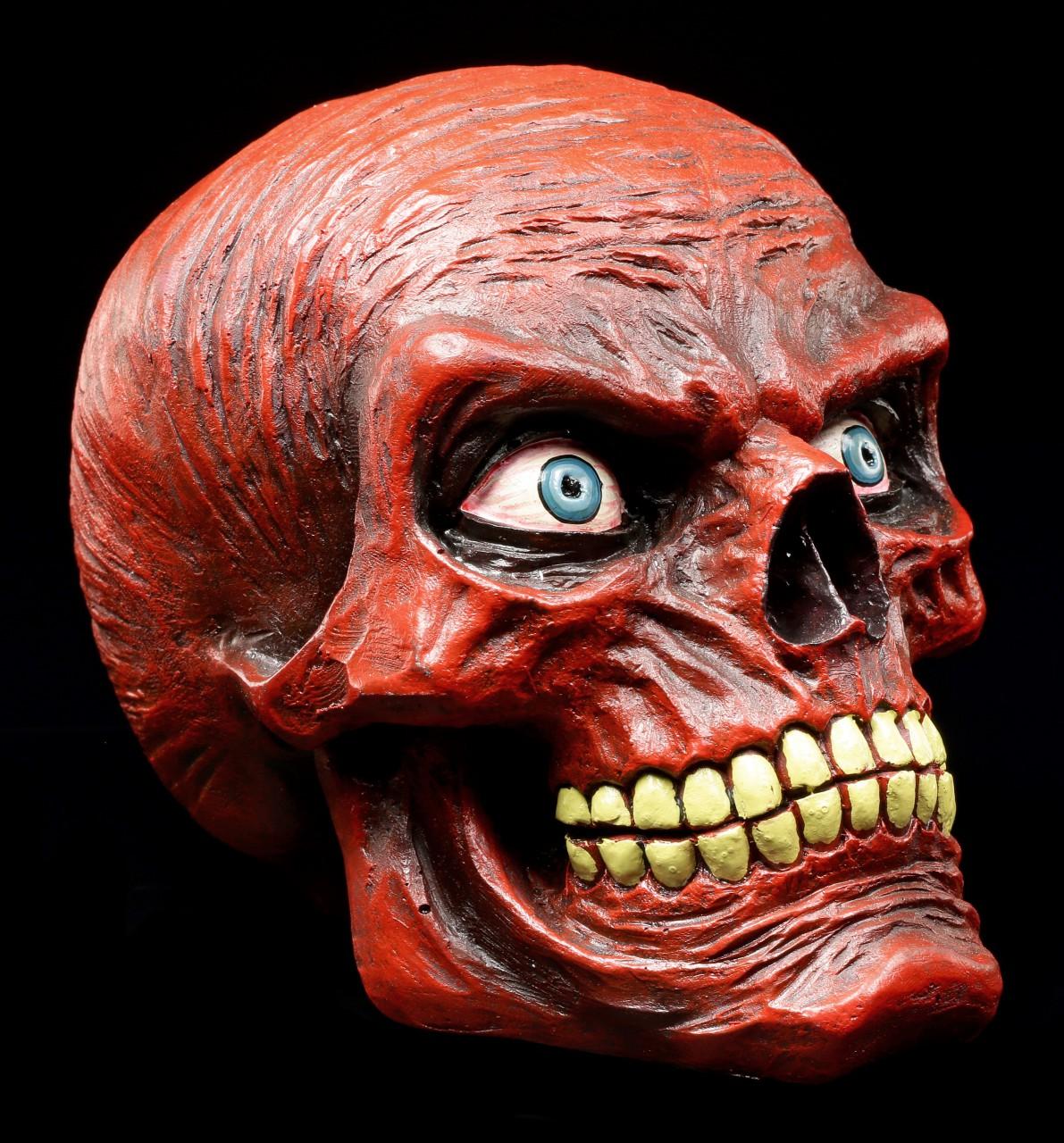 Menschlicher Totenkopf - Red Skull