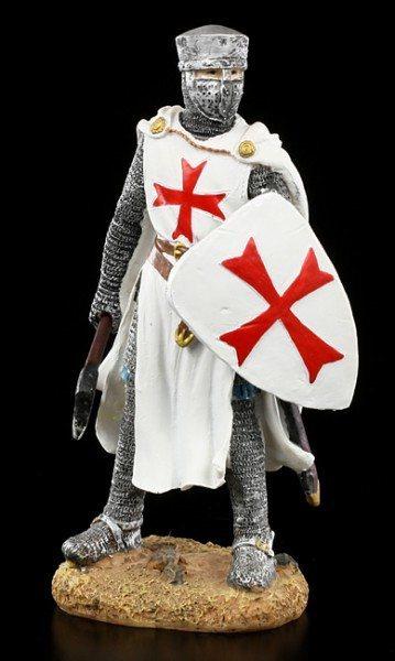 Ritter Figur - Tempelritter mit Axt und Schild