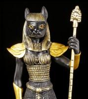 Egyptian Warrior Figurine - Bastet - Black Gold