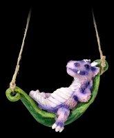 Süße Drachen Figuren - Faulenzen - lila