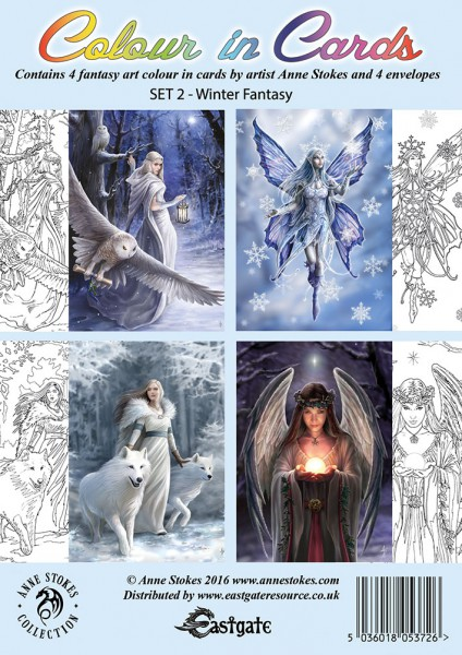 Colour In Greeting Cards Set of 4 - Winter Fantasy