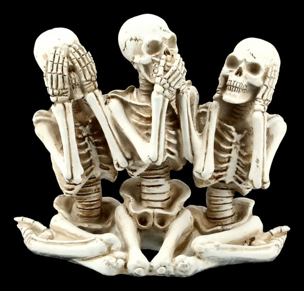 Skelett Figuren - Nichts Böses