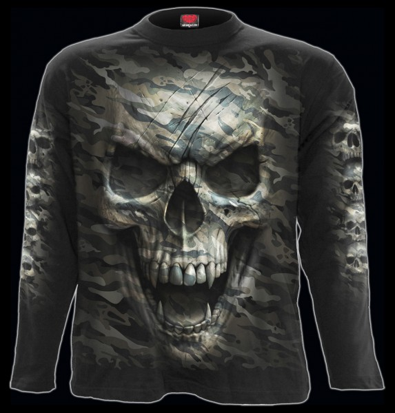 Spiral Totenkopf Langarmshirt - Camo-Skull
