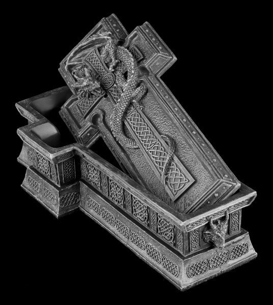 Cross Box with resting Dragon