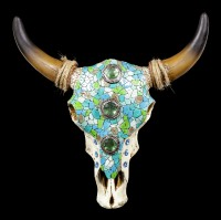 Wall Ornament - Cattle Skull with Mosaic