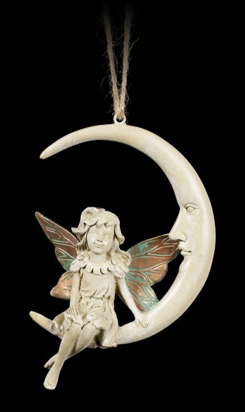 Forest Fairy Figurine on Moon - Faye