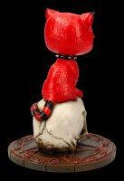 Cat Figurine on Skull - Devil Kitty