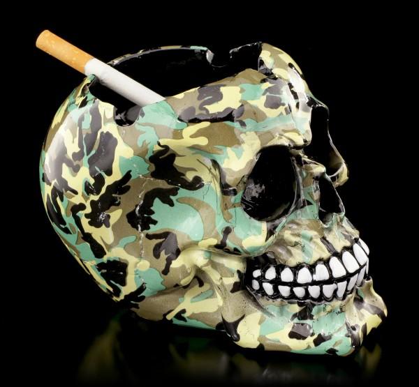 Bunter Totenkopf Aschenbecher - Camouflage