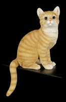 Shelf Sitter - Sitting Tabby Cat Figurine