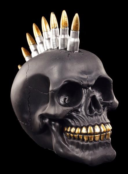 Skull with Bullet Mohawk - Black Bullet