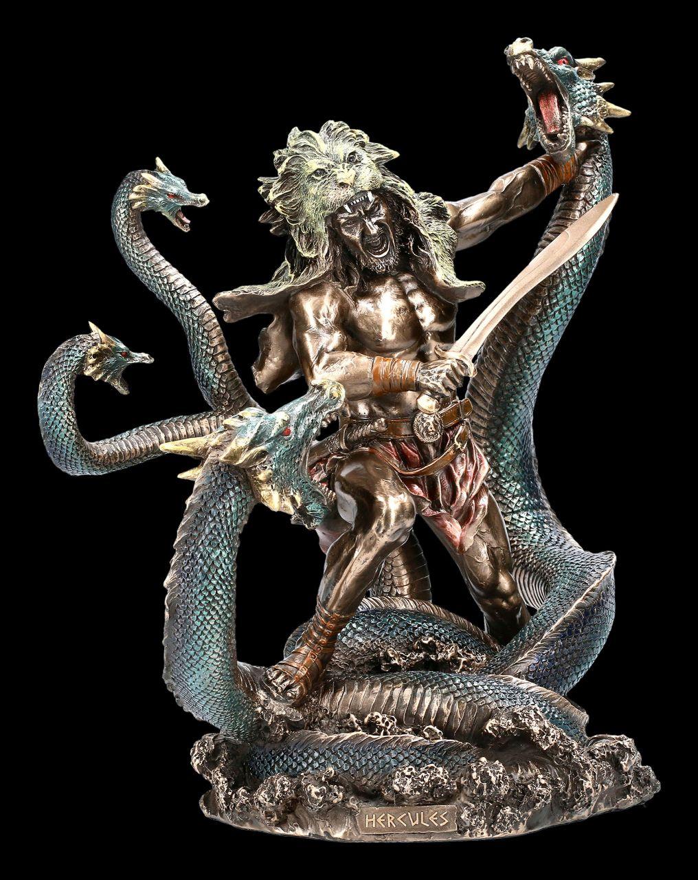 Herkules Figur im Kampf mit Hydra